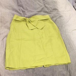 Lime Pencil Skirt